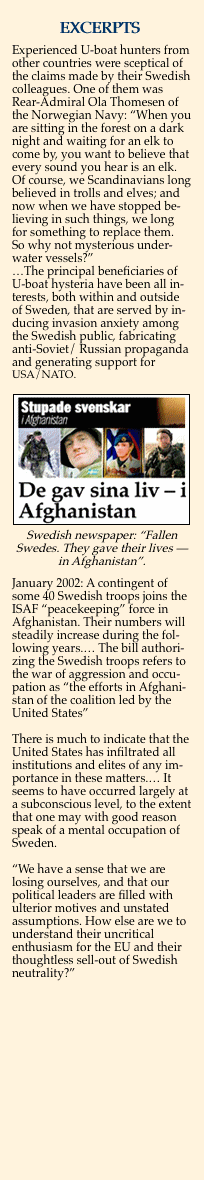 Aftonbladet: Swedish soldiers killed in Afghanistan while serving under USA/NATO command.